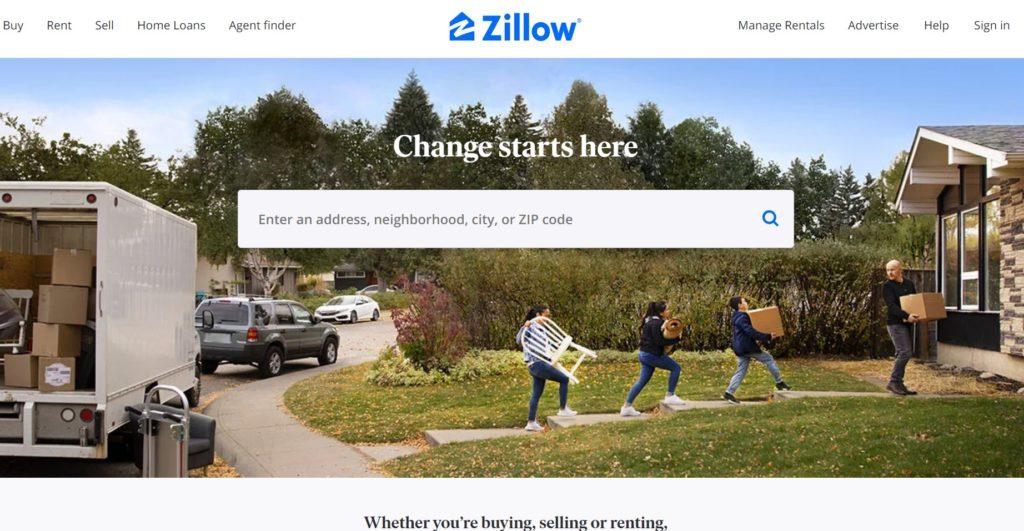 ジローZillowの画面