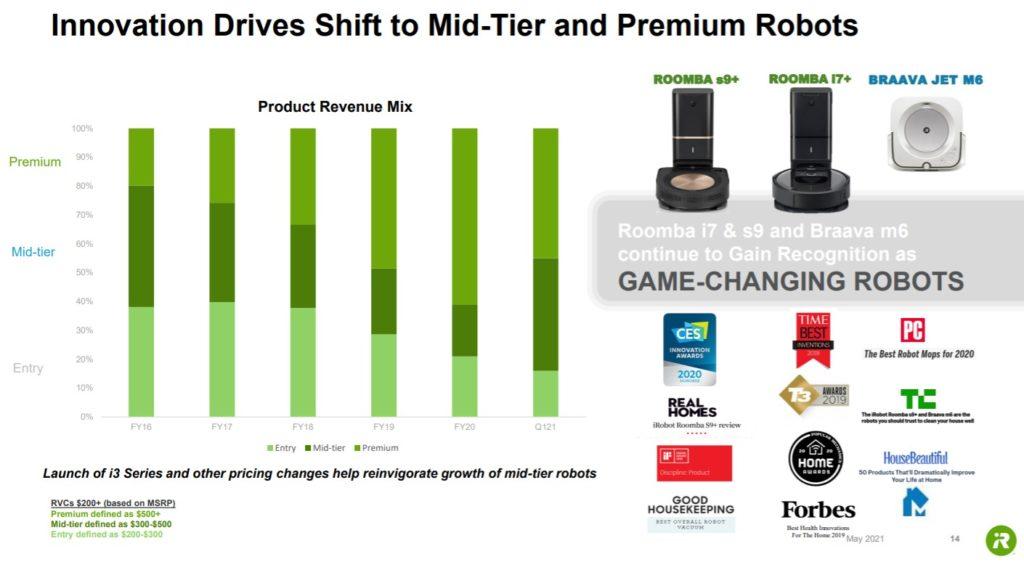 ルンバRoombaの高価格帯製品への移行