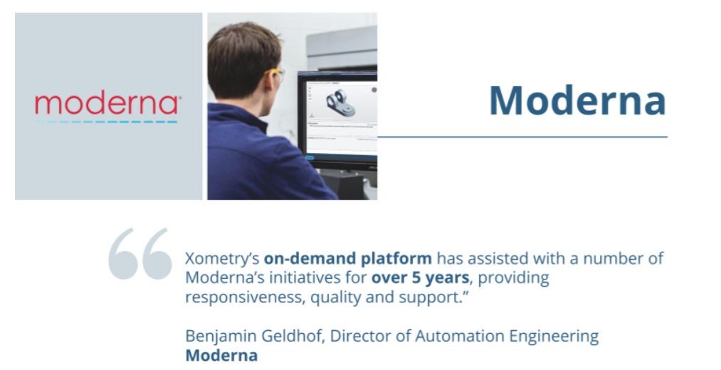 ゾーメトリー(ゾメトリー)Xometry【XMTR】のユーザーmderna